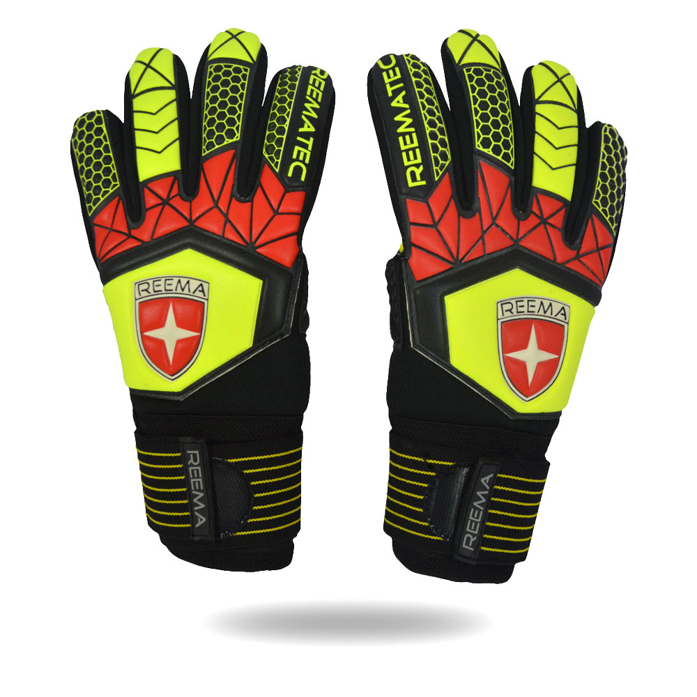 Absolute Grip 2020 | Protection and Strong Grip goalkeeper size 7 light green and black goalkeeper gloves