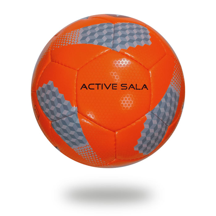 Active Sala | High Red Color and gray box design soccer ball