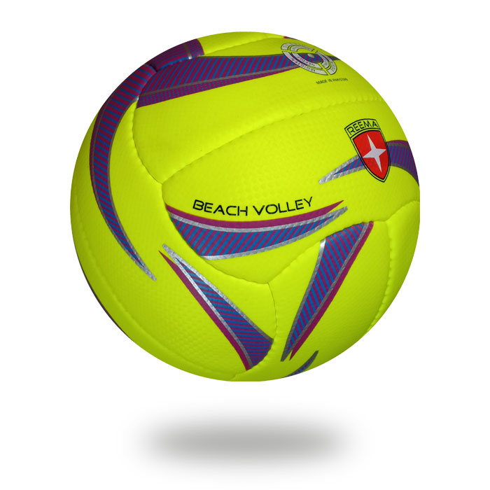 Beach Volley | final national games volleyball use green yellow ball with purple printing