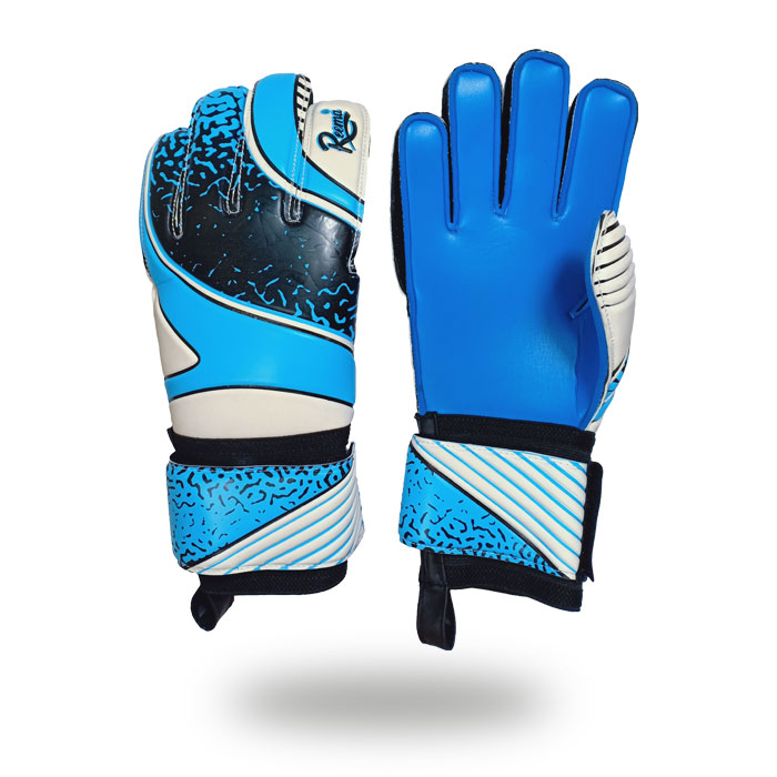 Classic Saver | New style Navy and White Latex foam goalkeeper gloves