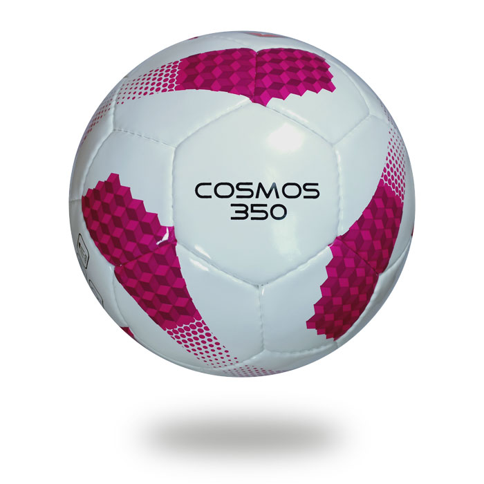 Cosmos 350   Official size 5 soccer ball color white and pink