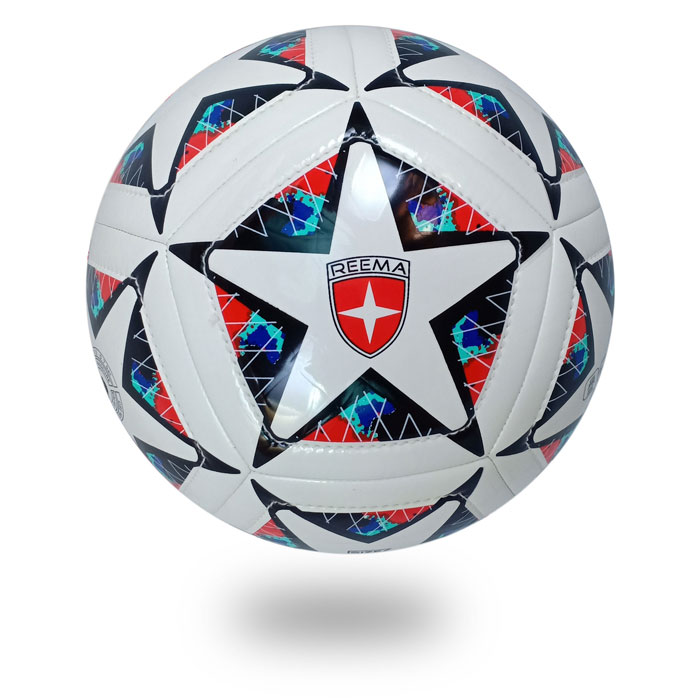Dual Stitch | a star draw on white PU of soccer ball