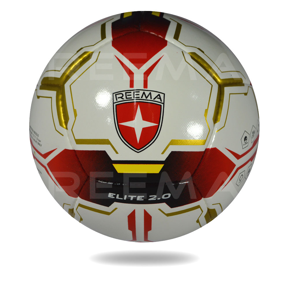 Elite 2020 | white cover football printed with red and gold color
