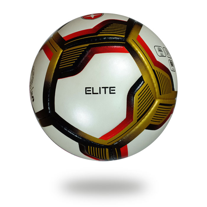 Elite | Top competition 12 panels  gold red soccer ball