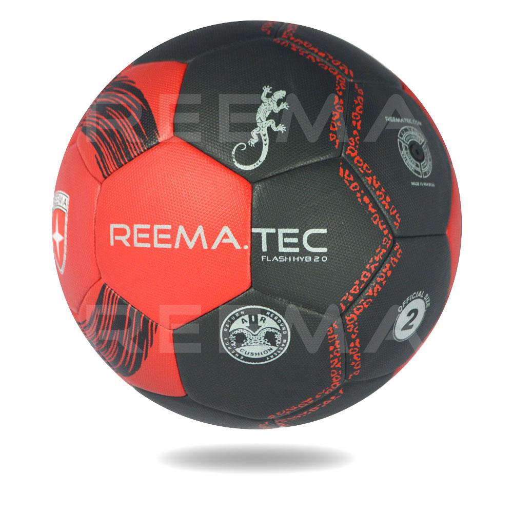 Flash 2020 HYB | Handball Red PU PV printed with Black circle
