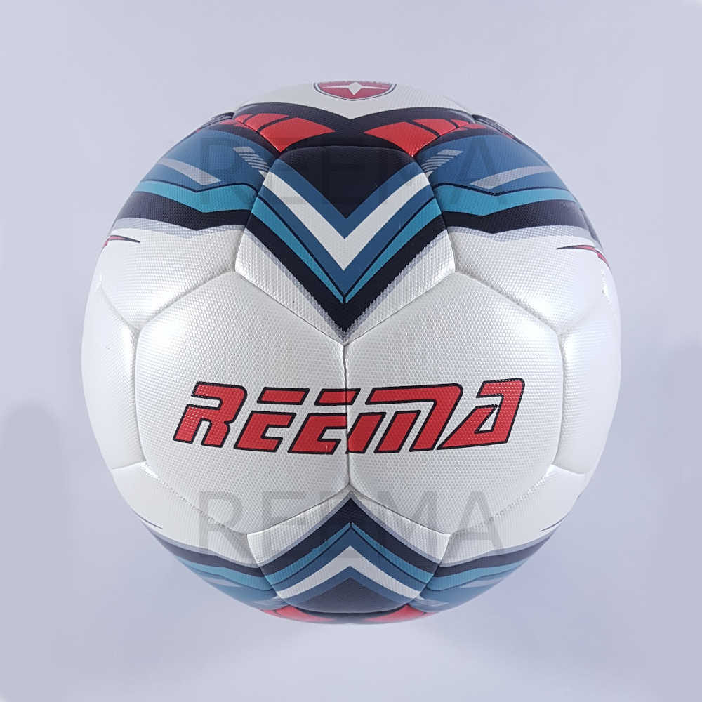 Force | White PU Printed with new design blue and red color soccer ball