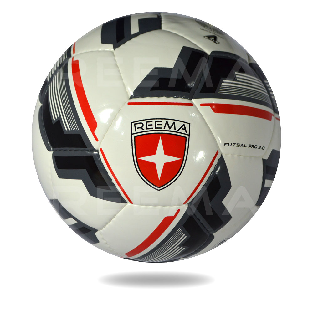 Futsal Pro 2020 | The football cover is white and the design blcak