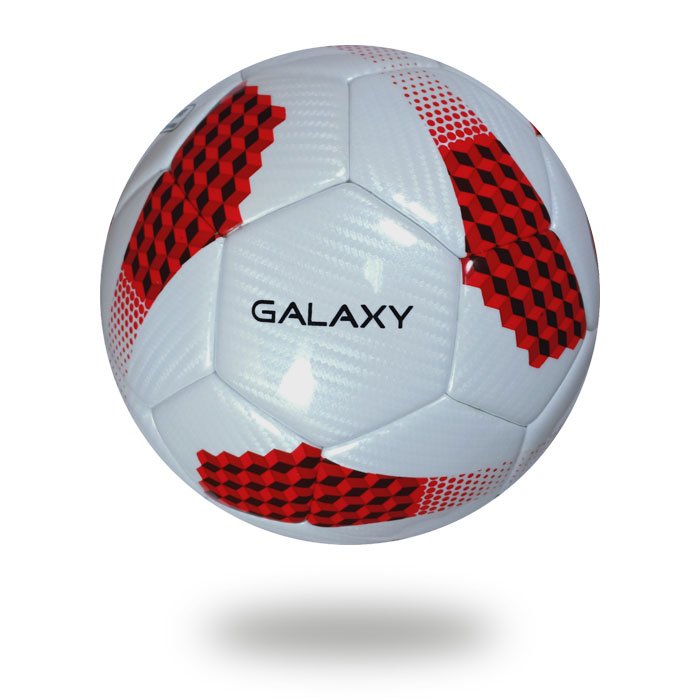 Galaxy | A Football picture with having a white upper cover that's printed red and black color draw cube