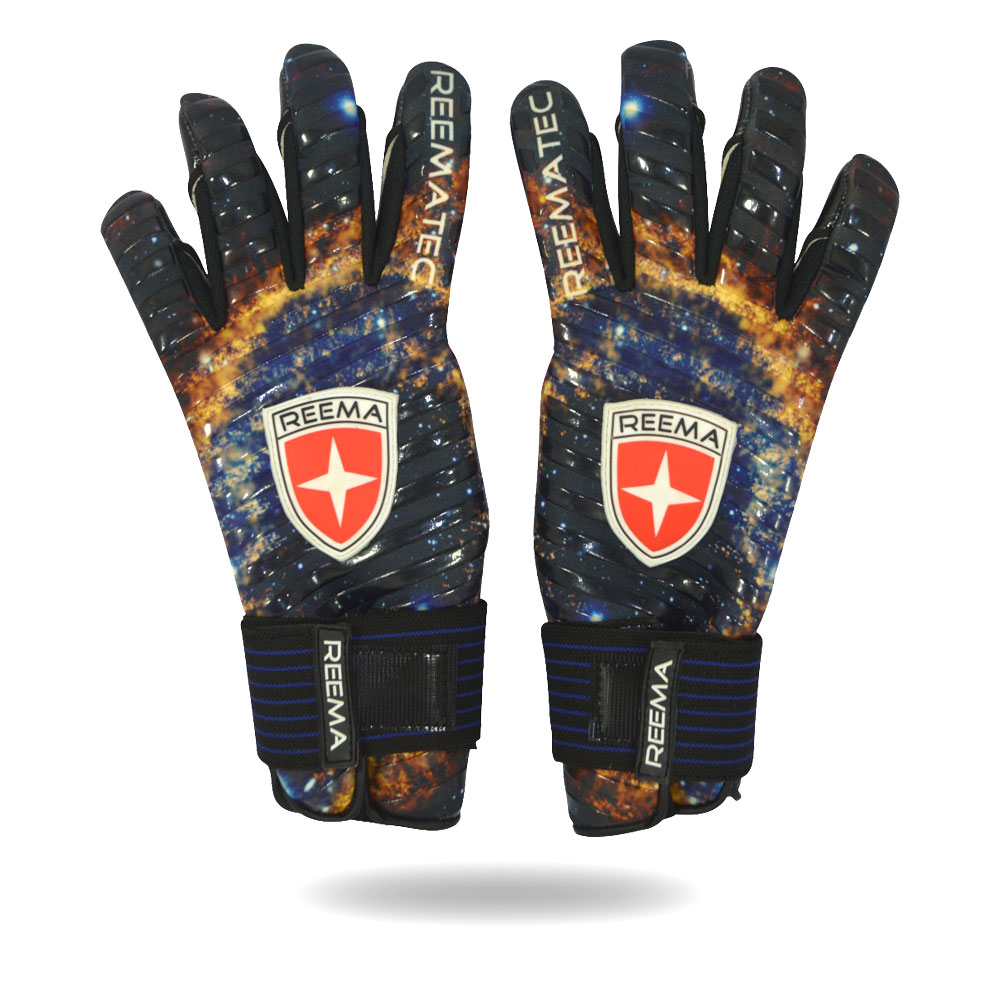 Galaxy | Gold and blue Sports Outdoors indoors players girls and boys hand gloves