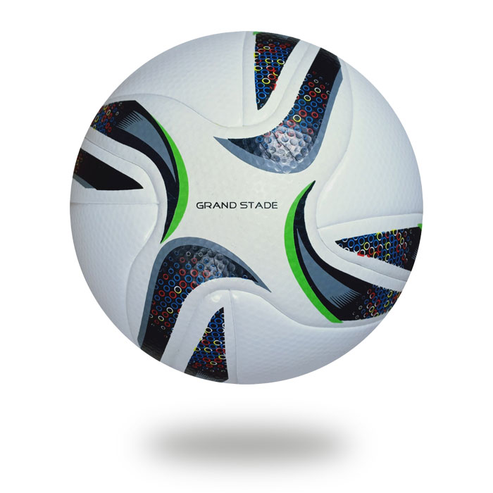 Grand Stade | 14 panels white PU design crescent with black and green color football