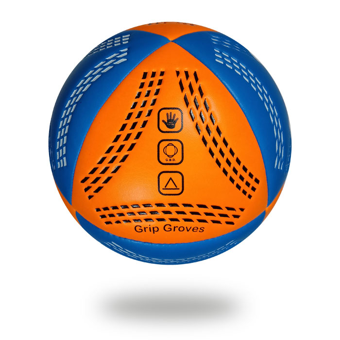 Grip Groves | Orange and blue nice color handball with white background