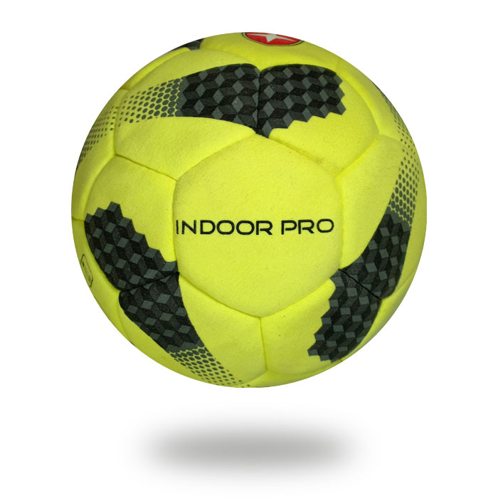 Indoor Pro |colorful ball yellow and black player for soccer on the white background