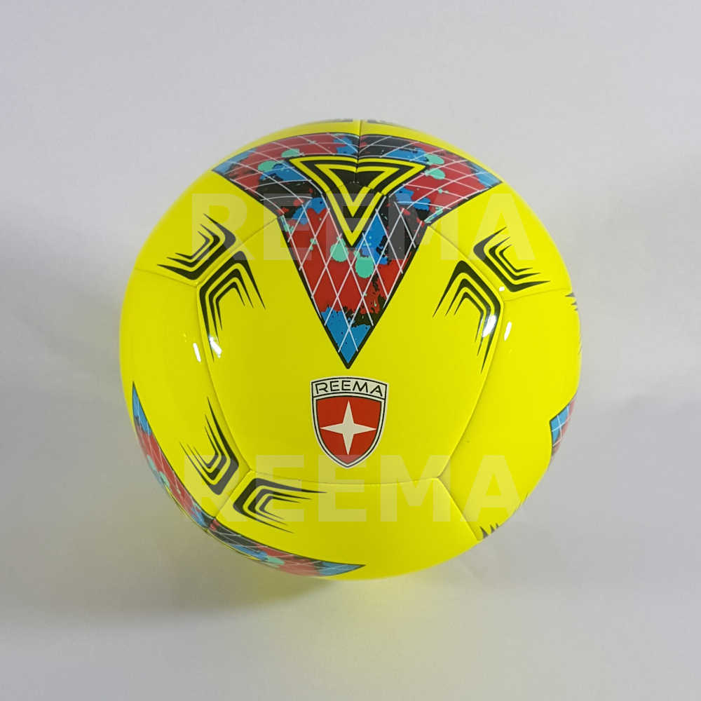 Junior 290 | Yellow machine stitched 12 panels football printed with nice color