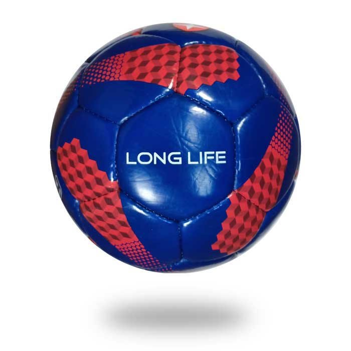 Long Life | 32 panels blue and red soccer ball