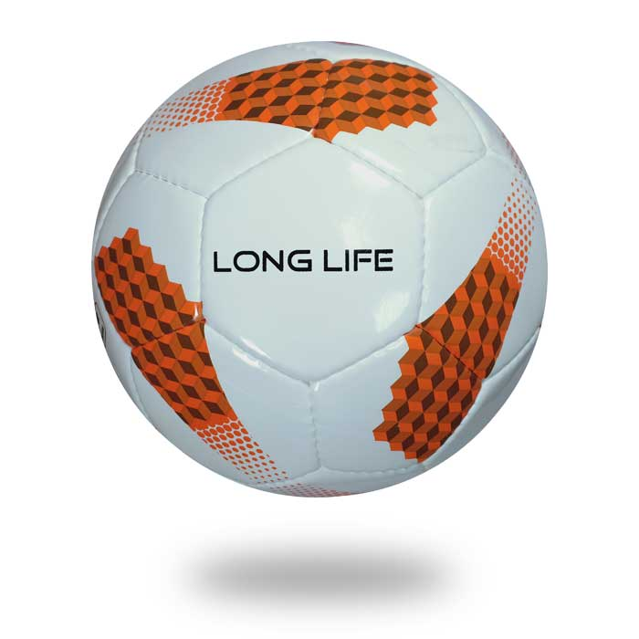 Long life | white and orange used polyester TPU soccer ball