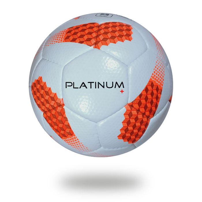Platinum plus | white orange PU material size 5 men football