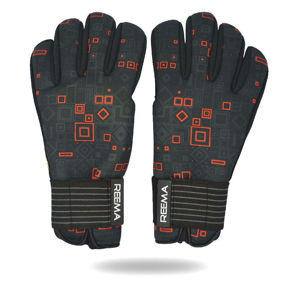 Protector Grip | soccer players hand awesome glove double palm grip red black