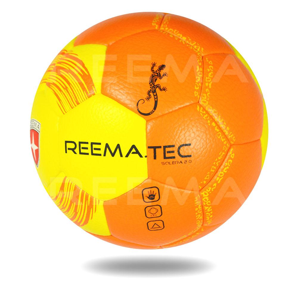 Solera 2020 | Yellow and Orange PU Foam Machine stitched Indoor Ball Handball
