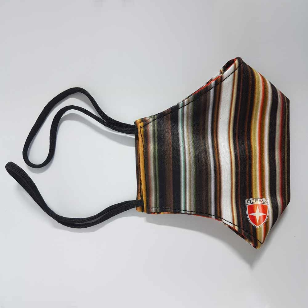Strip Face Mask | Multicolored Stripes Face Cover