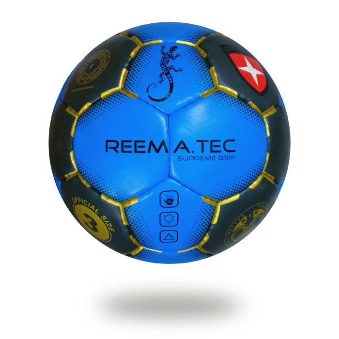 Supreme Grip |Dark blue and black handball printed with gold design