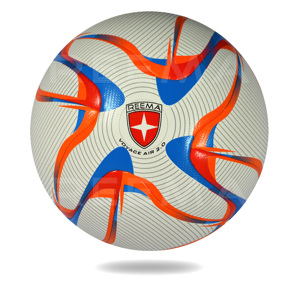 Voyag Air 2020 | White PU of soccer ball draw circle all around in black color