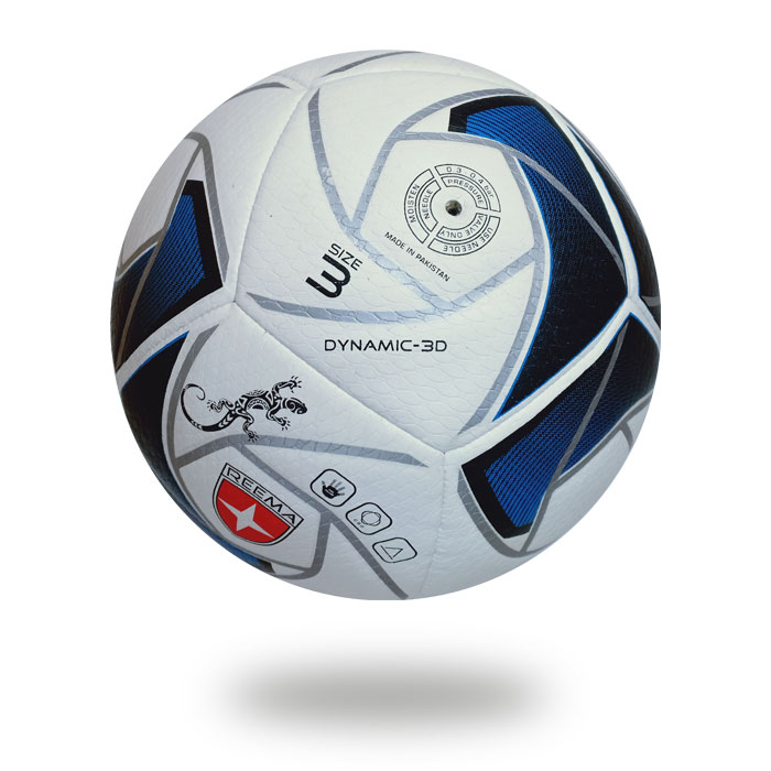Dynamic 3D | White Handball printed with sliver spider web
