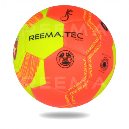 ACE 2020 | Orange Red Official Size 1 Handball Machine Stitched