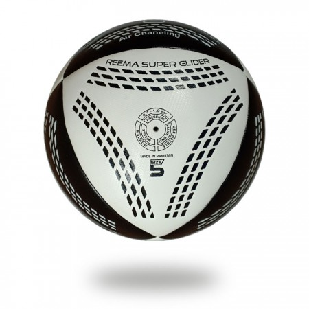 Air Chaneling | black Parallelogram draw on white PU and White Parallelogram printed on black PU soccer ball