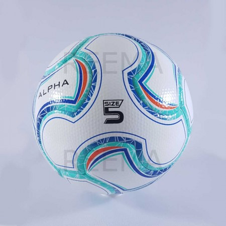 Alpha | high quality size 5 hand stitched soccer ball cyan
