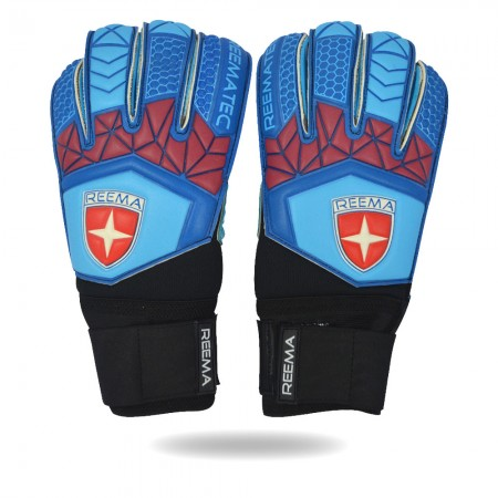 Aqua | strength grip blue black goalkeeper glove for players