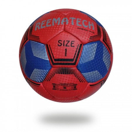 Arena HYB | Size 1 training handball Maroon with blue design