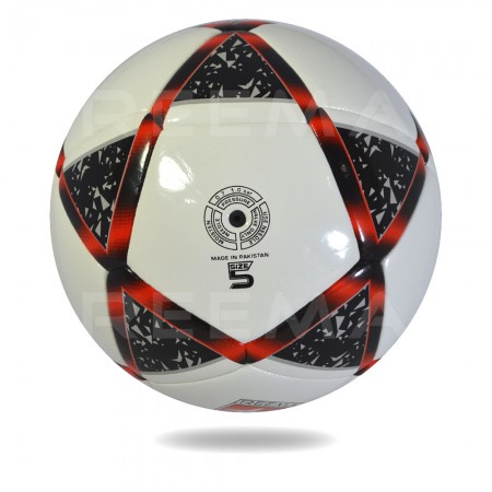 Atome 2020 | the best fusion Tec white cover printed star black and red soccer ball