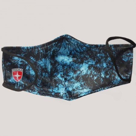 Blue Smoke Face Mask | Reematec best Double Layer Blue/Black face mask