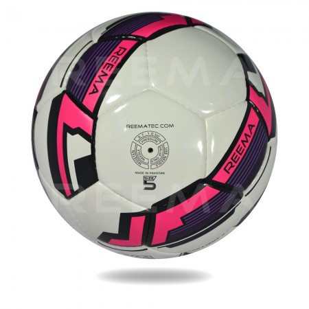 Brilliant 2020 |  hot pink and white soccer ball with 100 % polester
