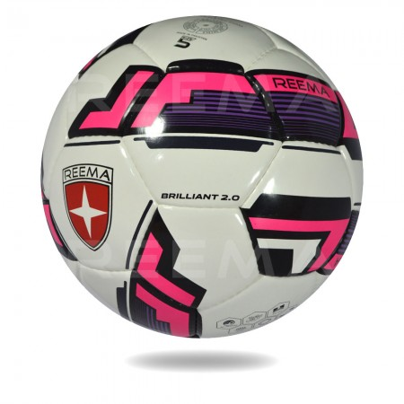 Brilliant 2020 |   white and hot pink color 12 panels soccer ball