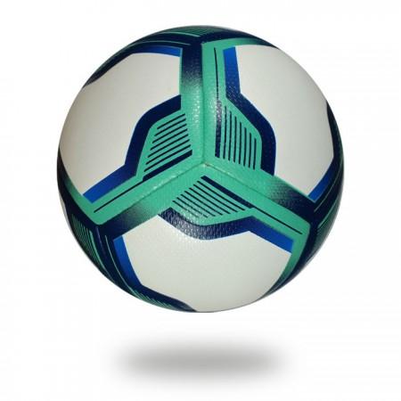 Brio 3D | Turquoise dark blue pentagon design on white football which background is also white