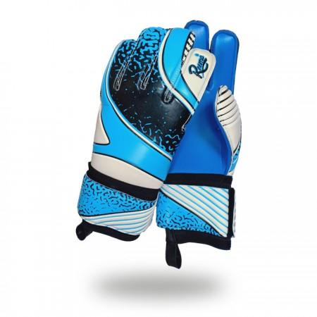Classic Saver | black skin dark light blue goalkeeper gloves