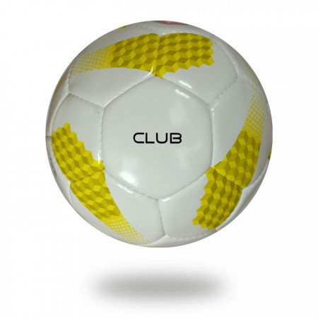 Club | used yellow white soccer ball Bring the Cup for club