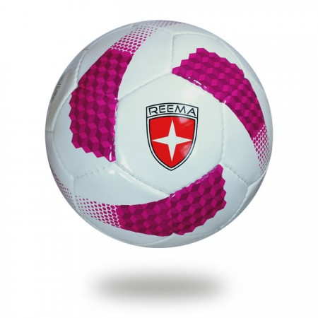 Cosmos 350   best white and pink color soft touch soccer ball
