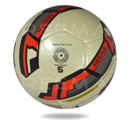 Diamond 2020 | use gold cover and red design on panels of soccer ball