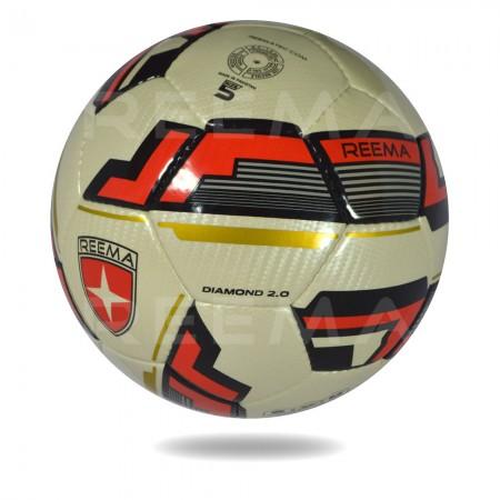 Diamond 2020 |High Ammonia latex gold and red design soccer ball