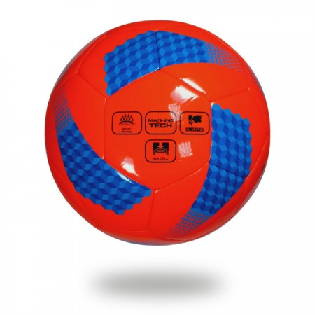 Diamond 290   best soccer ball for youth hot red printed with blue and navy blue cylinder