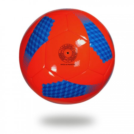 Diamond 290   soccer ball printed with cylinder shape on hot red cover