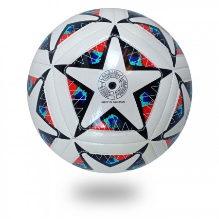 Dual Stitch | the best machine stitched white cover printed star black football
