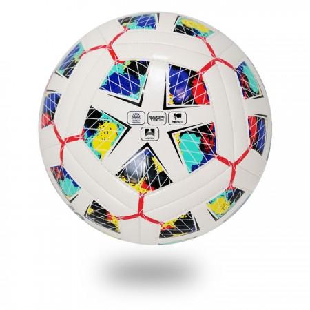 Dual Tech | draw black Diamond on white PU football