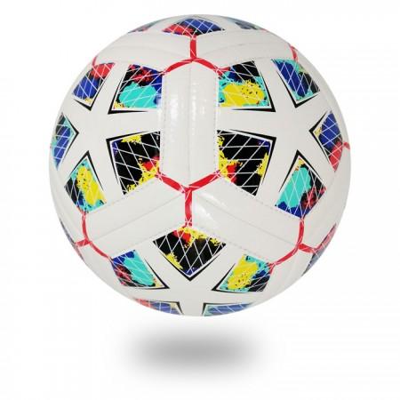 Dual Tech | draw neat black Diamond white PU soccer ball