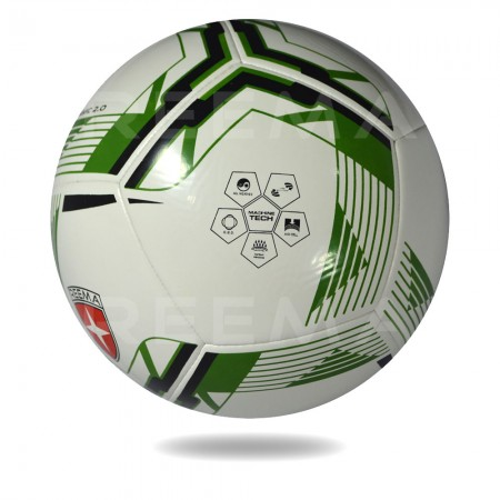 Dynamic 2020 | Great Soccer ball with white and forest green printed