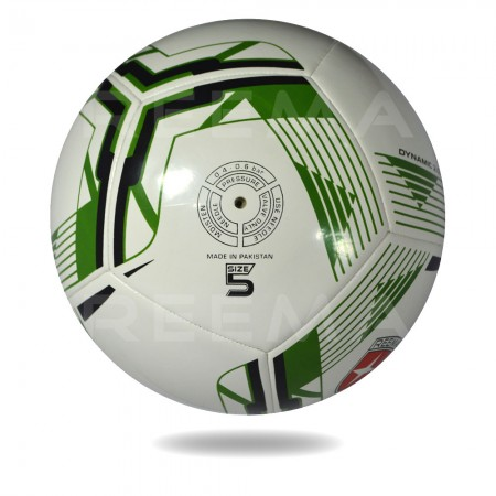 Dynamic 2020 | Machine stitched football which is printed with forest green color