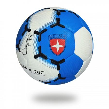 Easy Grip HYB | white PV with blue and black printed training handball