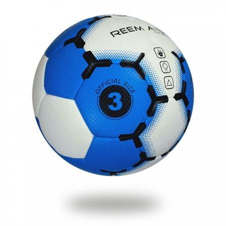Easy Grip HYB | white PV with blue and black printed training hand ball